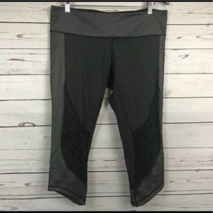 Lululemon Wunder Under Crop-Sashiko, Size 12